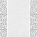 Elegant card with a floral border lace Stock Image