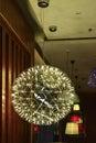Elegant ceiling lighting lit up by led lamp bulbs Royalty Free Stock Photo