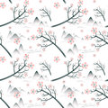 Elegant cherry blossom seamless pattern background Royalty Free Stock Photo