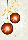 Elegant Christmas background with baubles Royalty Free Stock Photos