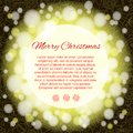 Elegant christmas background with place for text card of black Royalty Free Stock Photos
