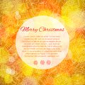 Elegant christmas background with place for text card of orange Royalty Free Stock Photos