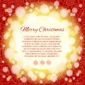 Elegant christmas background with place for text card of red Royalty Free Stock Photos