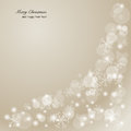 Elegant christmas background with snowflakes and p place for text vector illustration Stock Photo