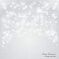 Elegant christmas background with snowflakes and p place for text vector illustration Stock Photos