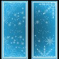 Elegant Christmas background with snowflakes and place for text. Abstract winter background.