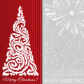 Elegant christmas background with tree stars fireworks and greetings Royalty Free Stock Photography