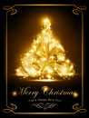 Elegant Christmas card, party invitation Stock Image