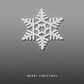 Elegant Christmas card with a snowflake Royalty Free Stock Images