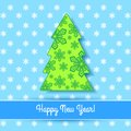 Elegant christmas card with tree and snowflakes Royalty Free Stock Photo