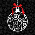 Elegant Christmas hang bauble Royalty Free Stock Photo