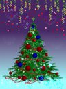 Elegant Christmas tree Royalty Free Stock Photography