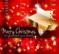 Elegant Classic Christmas Greetings Royalty Free Stock Photo