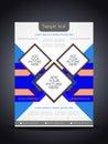Elegant colorful flyer or cover design template presentation of vector illustration Royalty Free Stock Images