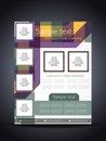 Elegant colorful flyer or cover design template presentation of vector illustration Stock Image