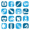 Elegant colorful medical icons set created mobile web applications Stock Photos