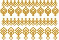 Elegant decorative border made up of square golden and white 15 Royalty Free Stock Photo