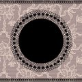 Elegant doily on lace background Stock Image
