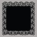 Elegant doily on lace gentle background Royalty Free Stock Photography