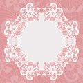 Elegant doily on lace gentle background for scrapbooks Stock Photography