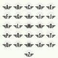 Elegant dynamic alphabet