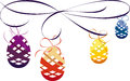 Elegant easter eggs decoration vector illustration Stock Photos