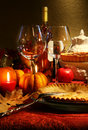 Elegant Festive table Royalty Free Stock Images
