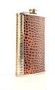 Elegant flask decorated as crocodile skin Royalty Free Stock Image