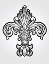 Elegant fleur de lis vector illustration Stock Images