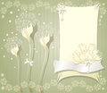 Elegant floral background with frame flowers bows Royalty Free Stock Photo