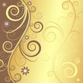 Elegant floral background (vector) Stock Images