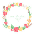 Elegant floral congratulation card for wedding and birthday invitations Stock Photos