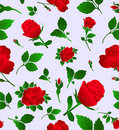 Elegant floral seamless pattern with rose, wallpap Royalty Free Stock Photo