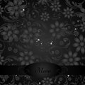 Elegant Flower Decoration - Menu Stock Photography