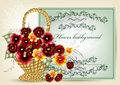 Elegant flower greeting card Royalty Free Stock Images