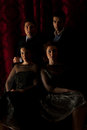 Elegant four people in night Royalty Free Stock Photos