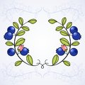 Elegant frame with blueberries this is file of eps format Stock Images