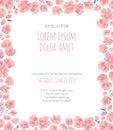 Elegant frame of delicate pink sakura cherry blossoms