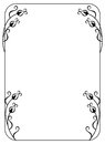 Elegant frame with floral ornament Royalty Free Stock Photo
