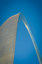 The elegant gateway arch st louis iii metal surface glitters in sun set of giant and majestic in missouri giant scale is stunning Royalty Free Stock Image