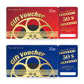 Elegant gift voucher or gift card movie film theme