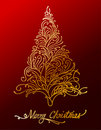 Elegant gold floral christmas tree Stock Photography