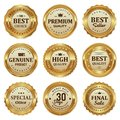 Elegant gold seal labels quality product
