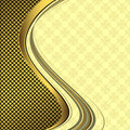 Elegant golden and black background Royalty Free Stock Images
