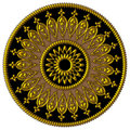 Elegant golden,black and brown ornament Stock Image