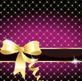Elegant golden ribbon Stock Image