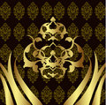 Elegant golden traditional ottoman turkish design Royalty Free Stock Photography