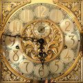 Elegant grandfather clock face Royalty Free Stock Images