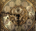 Elegant grandfather clock face Royalty Free Stock Photography