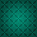 Elegant green background made floral decorative pattern Royalty Free Stock Image